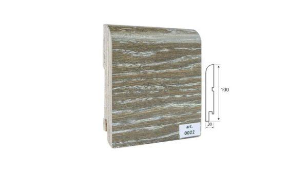 Шпонированный плинтус 100*30 арт. 022