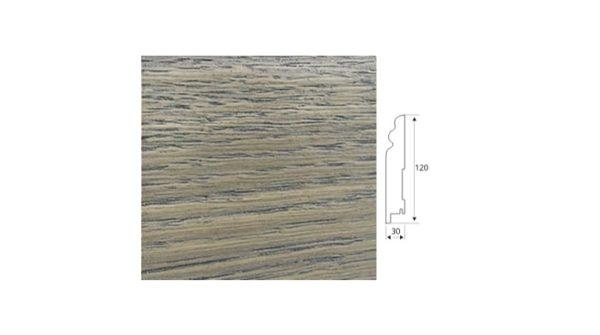 фигурный Шпонированный плинтус 120*30 арт. 021