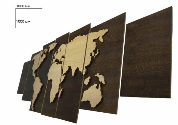 Стеновые панели карта мира