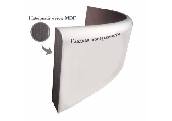 мдф радиусный плинтус наборным методом