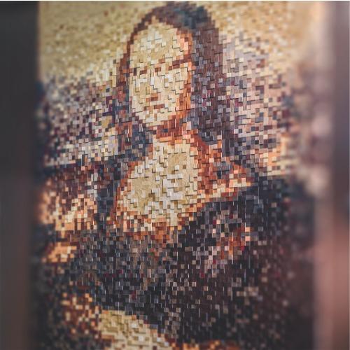 мона лиза шпонированная мозаика