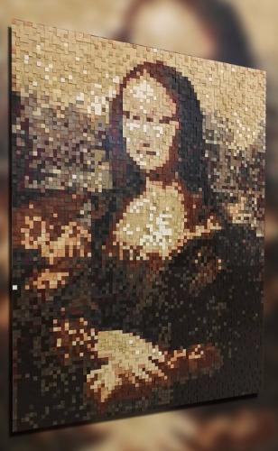 мона лиза шпонированные пиксели