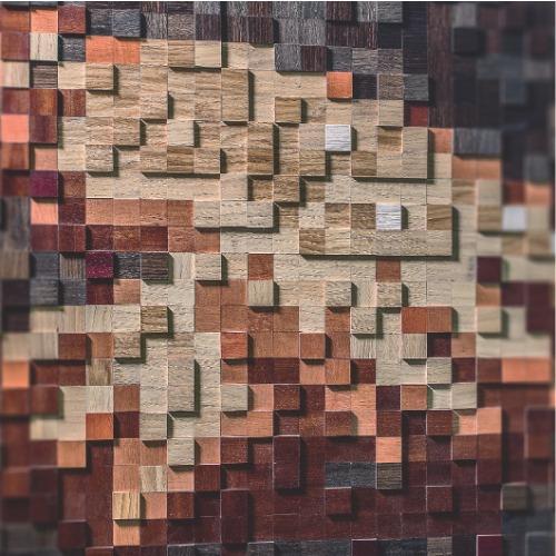 3д стеновые панели шпонированная мозаика