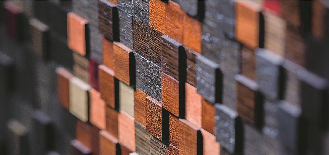 шпонированные пиксели панели