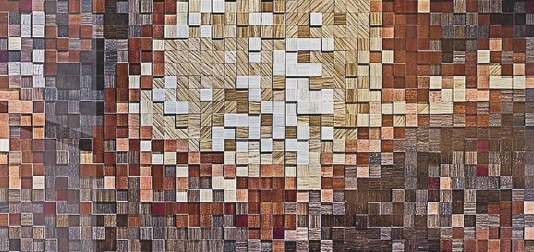 пиксельные панели шпонированная мозаика
