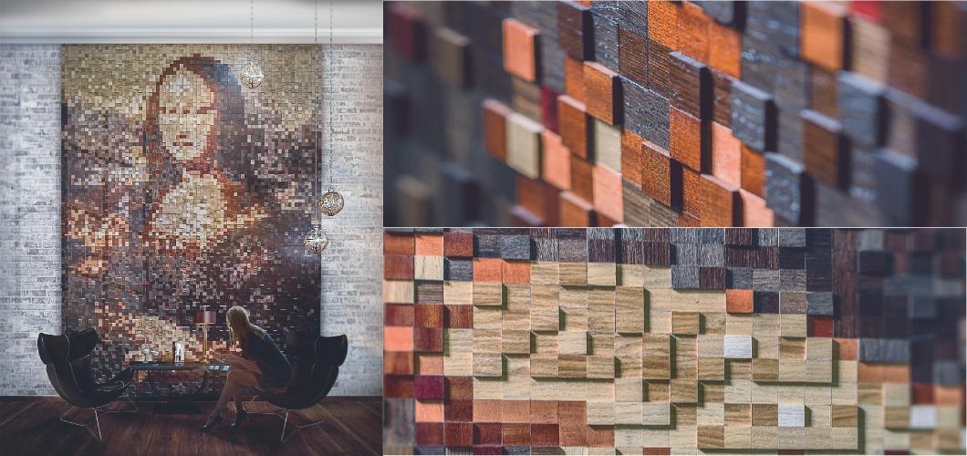 Мозаика шпонированные панели